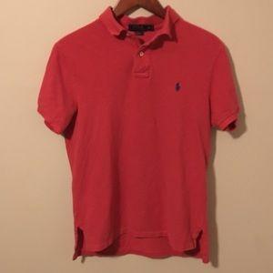 Men's red Polo Ralph Lauren. Men's size medium